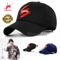 Jamont Three Scratches Topi Baseball Hat Casual Sport Pria Wanita