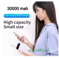 XON power Bank original slim murni 30000mah mini slim tipis - hitam