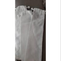 Sedotan Stainless Set 4in1 Sikat Reusable Straw Lengkung Lurus Bubble