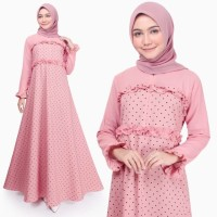 Gamis Wanita Original | Aida Polka | Dress Muslim Busui | Tazkia Hijab