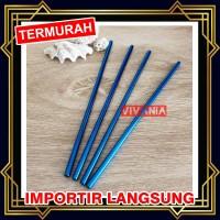 Sedotan Stainless Steel Straw BIRU - Sedotan Metal