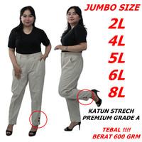 READY 8L-6L-5L-4L-Celana Wanita Jumbo- Baggy Pants - JUMBO SIZE