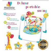 Mastela Deluxe Portable Swing Giraffe Blue 6579 / Ayunan Bayi /Bouncer