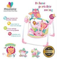 Mastela Deluxe Portable Swing Lion Pink 6519 / Ayunan Bayi / Bouncer