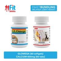 Paket Ekonomis : Calcium 600mg 60 Tablet & Glomega 60 Softgel