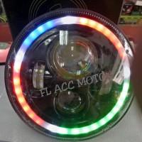 New Lampu Daymaker Harley Rubricorn 7 Inch RGB baru