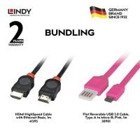 [BUNDLING] LINDY HDMI & USB Cable 41395 dan 30901