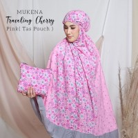 JUAL MUKENA TRAVELLING CHERRY PINK (TAS POUCH)