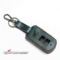Sarung Remote Kunci Smart key Honda Vario 150 Kulit Asli Warna Hijau
