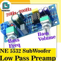 NE5532 Blue PCB LowPass Filter PreAmp Low Pass SubWoofer