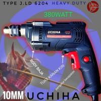 mesin bor uchiha 6204 drill listrik bonus kayu besi tembok 10mm