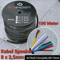 Kabel Audio Speaker Crimson 8 x 2,5mm 1 roll isi 100meter