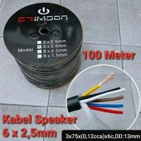 Kabel Audio Speaker Crimson 6 x 2,5mm 1 roll isi 100meter