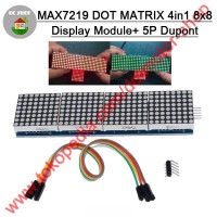 MAX7219 LED DOT MATRIX MODULE 8x8 4-IN-1 32X8 RUNNING TEXT DISPLAY