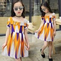 Dress Sabrina Wajik Batik (Orange) / FS13-10086