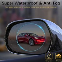 Super waterproof anti fog film 10x10cm x 2pcs anti air fog spion mobil