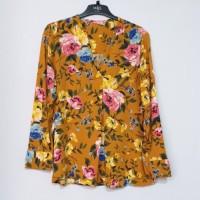 ONB Popover V-Neck Floral Brand Murah