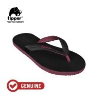 Fipper Black - M Series / Sandal Jepit Pria / Black -Maroon