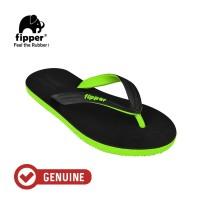 Fipper Black - M Series / Sandal Jepit Pria / Black - Green Apple