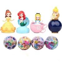 Princess LOL Surprise Egg Figure Set 4 Mainan Hiasan Kue Topper Cake