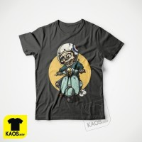 Kaos Baju Obral Combed 30S Distro VESPA SKULL TENGKORAK polos custom