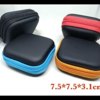 Stylish Colorful Earphone Case Headset Tempat (7.5X7.5X3.1Cm)