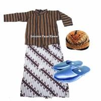 Pakaian Adat Anak Jawa / Setelan Baju Surjan Lurik Anak Lengkap