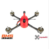BMS Racing JS-1 Quad Racer Frame with TPU Kit - Red