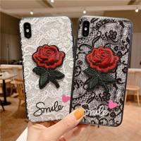 Mantap Rose Flower Lace Hard + SoftCase Huawei P20 Pro Lite P30 Plus