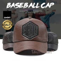 Jamont Hexagon Strong Topi Baseball Hat Casual Sport Pria Wanita PU