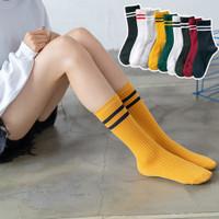 Kaos kaki wanita kaus kaki katun penyerap olahraga Socks kasual D36