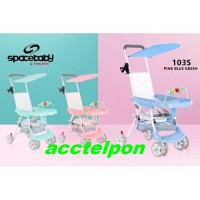 Baby Chair Stroller SPACEBABY 103S / Meja Makan Kereta Dorong Bayi