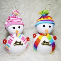 boneka snowman salju aksesoris natal pohon gantung gantungan meja