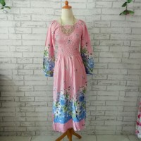 dress sabina pink XXL/dress big size 2L/dress wanita pink flowery