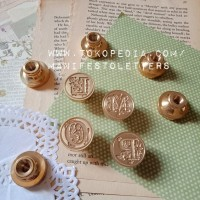 Wax Stamp Head Alphabet J-R Seal Wax Initial DIY stempel lilin
