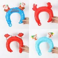 Balon Foil Bando Natal/Christmas Headband Balloon Santa Claus/Snowman
