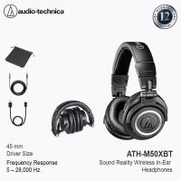 Audio-technica M50XBT Wireless Over-Ear Headphone - Black - Hitam