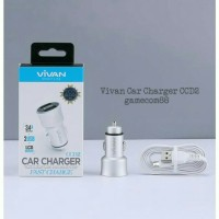 Vivan Charger Mobil Car Charger Dual USB Fast Charger CCD2