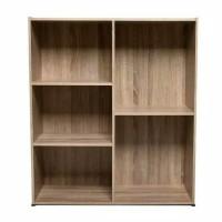 Rak Lemari buku serbaguna 5 kotak pajangan dapur dan kantor minimalis