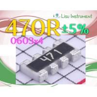 Network Resistor Array 470R 470 Ohm ±5% 471 SMD SMT 0603_x4