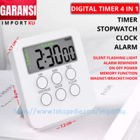 Digital Kitchen Timer 4 in 1 Big Screen Switch On Off Power FlashLight