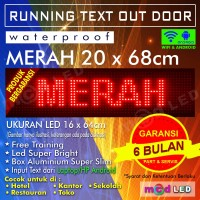LED RUNNING TEXT P10 OUTDOOR MERAH 16X64 PIXEL