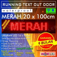 PROMO RUNNING TEXT P10 16X96 MERAH OUTDOOR