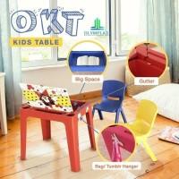 Olymplast OKT Kids Table Meja Anak Belajar Makan Plastik Dengan Laci
