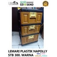 Lemari Plastik Napolly 3 Susun Terbaru Gojek Grab Murah Pakaian STB300