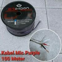 CRIMSON ORIGINAL Kabel Audio / Mic PURPLE 1 Roll 100 Meter 100m