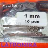 Mata Bor 1mm Tajam Silver PCB 1 mm Twist Bits Kecil Mini Drill