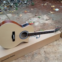 gitar akustik jumbo elektrik cort