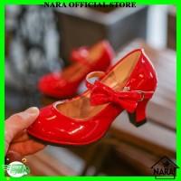 Sepatu Pesta Anak Hak Tinggi Sepatu High Heels Anak Fashion Anak Flats