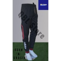 Celana Training Import Joger Sweatpants 7/8 Adidas Hitam Merah